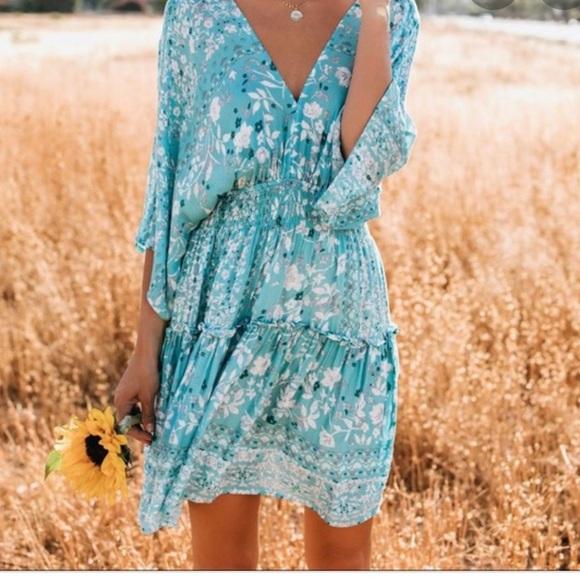 NEW W/ TAGS Vici Kimono Tiered Babydoll Dress